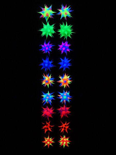 Psywork Schwarzlicht Ohrstecker Neon Sting Ball  #psywork #schwarzlicht #schwarzlicht.de #schmuck #neon #jewelry #blacklight