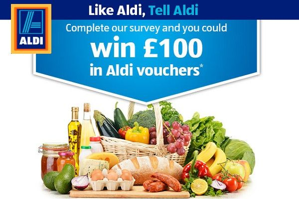 Share your feedback regarding ALDI store just by participating in survey and win £100 in ALDI vouchers for free shopping.  #SurveySweepstakes #Win #Vouchers #Feedback