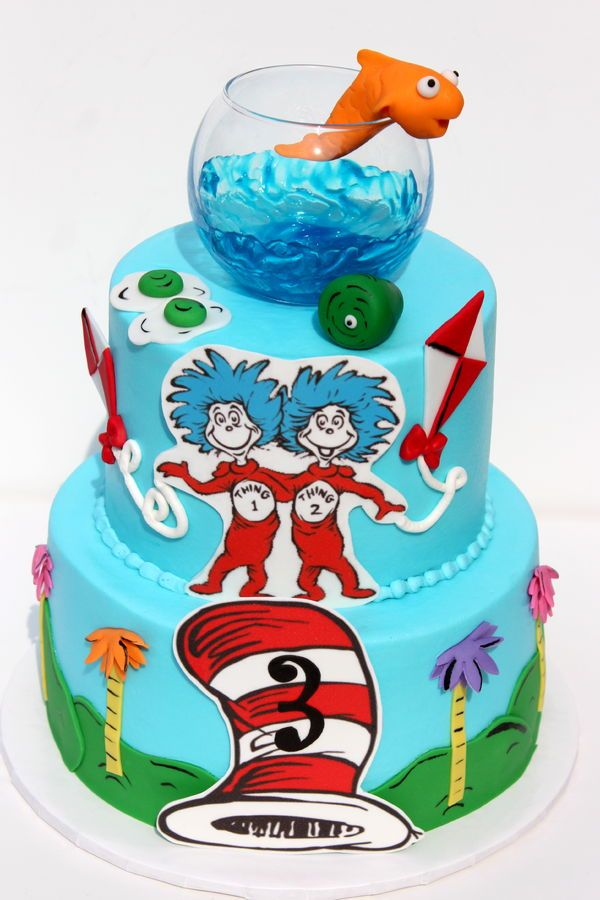 Dr Seuss Abc Birthday Cake