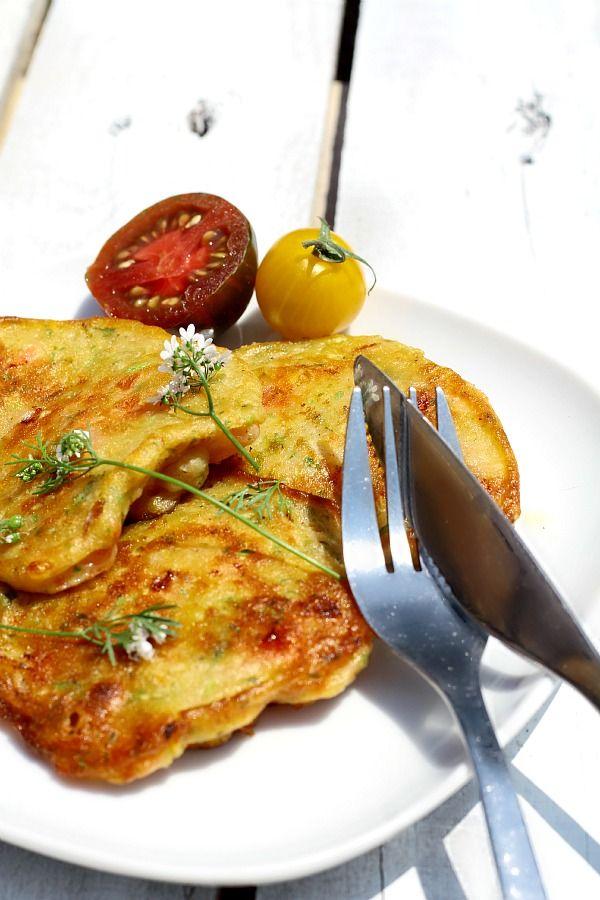Beignets de tomates - Tomatokeftedes crétois - Tomates coeur de boeuf ou Marmande, menthe, courgette, oignon