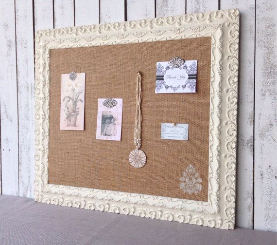 large shabby chic cork board bulletin board by. Black Bedroom Furniture Sets. Home Design Ideas