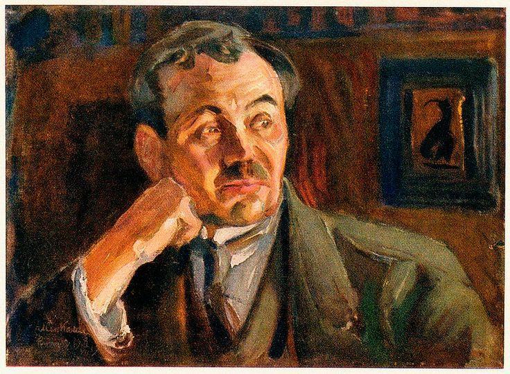 Akseli Gallen-Kallela (26 aprilie 1865 - 7 martie 1931), pictor şi grafician finlandez - Eino-Leino 1917