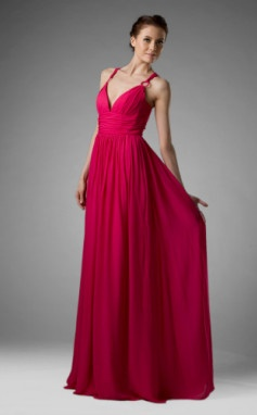 Sheath/ Column Spaghetti Straps Floor-length Chiffon Over Mading Bridesmaid/ Wedding Party Dress
