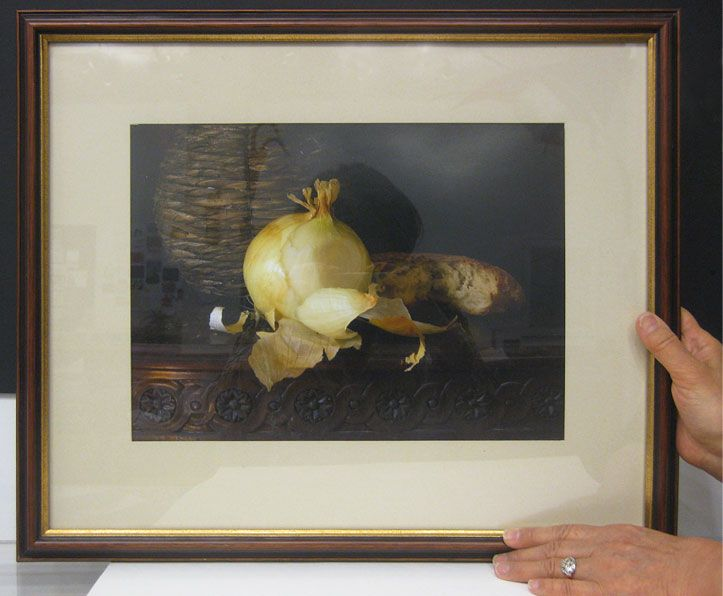 #14   Title: Bread and Onion   Artist: Richard Picton   Medium: photograph   Framed: 16 in x 19.25 in
