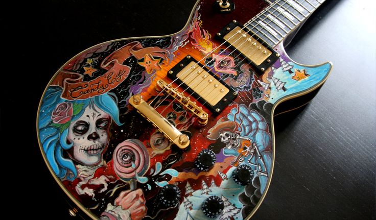 "Guitare custom : ""candy-eye"" by JEF"
