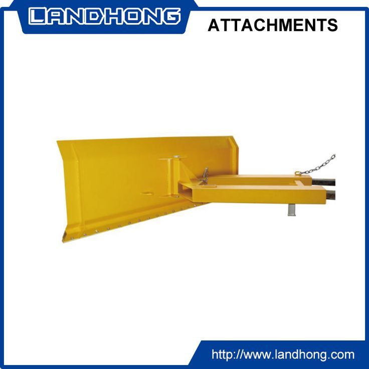 Fork truck mounted snow plow attachment for forklift truck