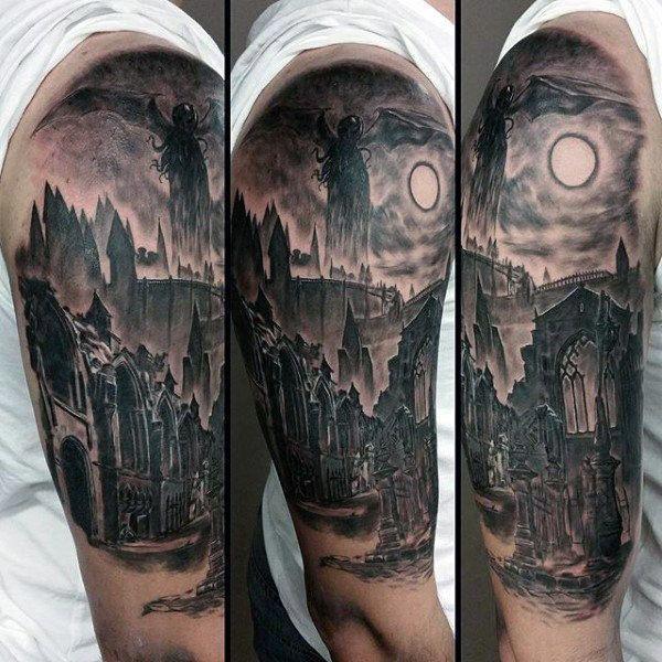 Half Sleeve Tattoos Halfsleevetattoos In 2020 Half Sleeve Tattoo Cthulhu Tattoo Unique Half Sleeve Tattoos