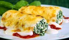 Cannelloni con spinaci