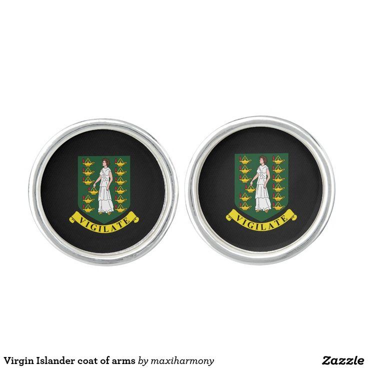Virgin Islander coat of arms Cufflinks