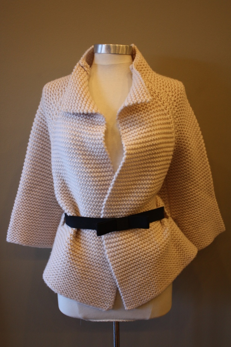 love this garter stitch jacket via gh2