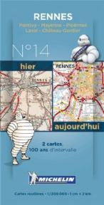Michelin Dual Map Pack No. 14 Rennes 1:200,000