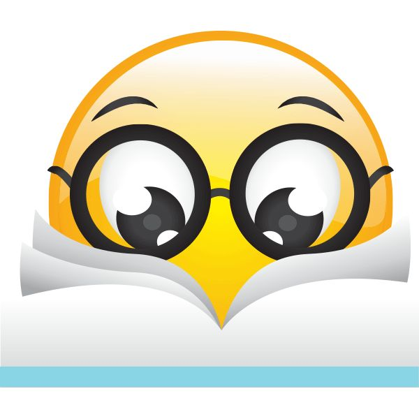 This smiley understands that there are few pleasures as wonderful as getting lost in a good book.