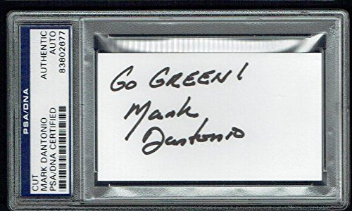 Mark Dantonio signed autograph 2x35 cut Michigan St Football Coach PSA Slabbed -- Click image for more details.