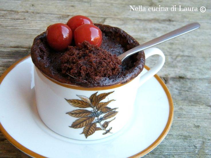 MUG CAKE ALLA NUTELLA - TORTA IN TAZZA
