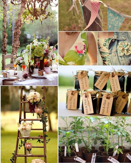 more vintage beauty, i love the flowers on the old wooden ladder!