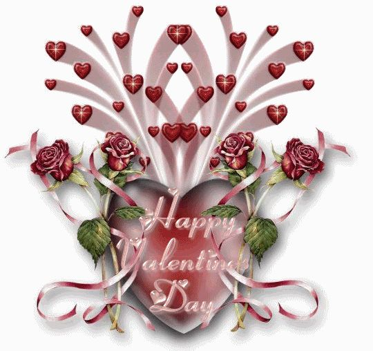 happy valentines day photo: HappyValentinesDayHeartsRosesRibbons HappyValentinesDayHeartsRosesRibbon.gif