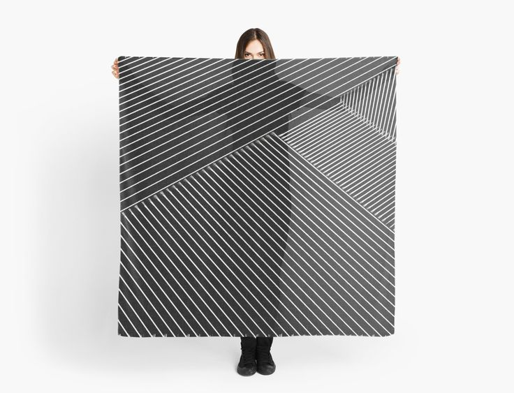 Line Art - Geometric Illusion, abstraction #scarf by cool-shirts  Also Available as T-Shirts & #Hoodies, Men's #Apparels, Women's Apparels, #Stickers, #iPhone #Cases, #Samsung #Galaxy Cases, #Posters, #Home Decors, #Tote #Bags, #Pouches, #Art #Prints, #Cards, Mini #Skirts, #Scarves, #iPad Cases, #Laptop #Skins, Drawstring Bags, Laptop #Sleeves, #tapestries and #Stationeries