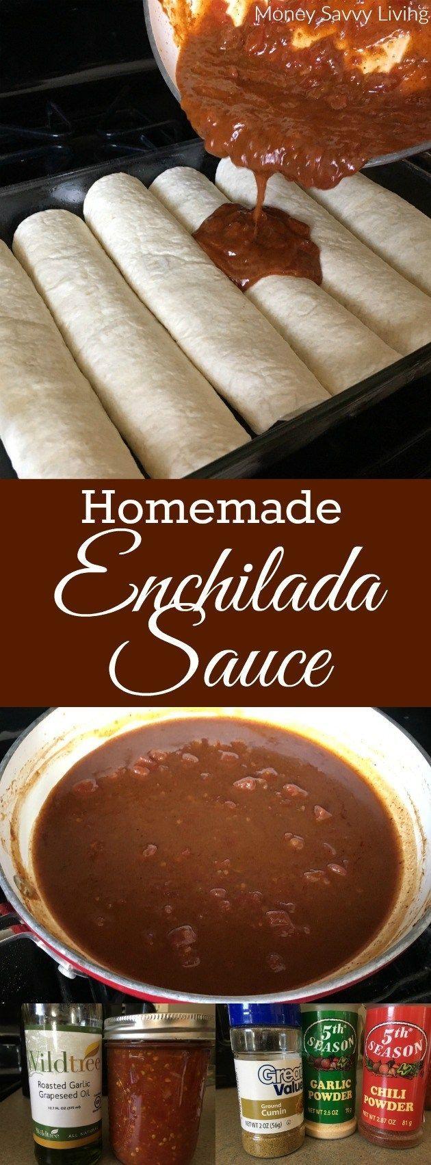 Homemade Enchilada Sauce.  Getting ready for Cinco de Mayo?  Try this delicious recipe for homemade enchilada sauce!   // Money Savvy Living