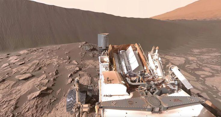 NASA's Curiosity Mars Rover at Namib Dune (360 Video)  It's interactive!