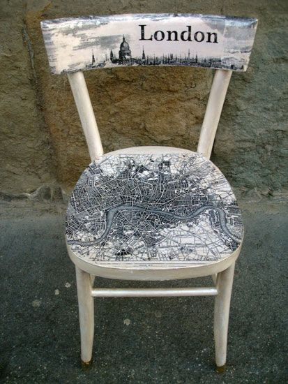 ⇚ Map Quest ⇛ maps & globes in history, art, craft & decor - map chair