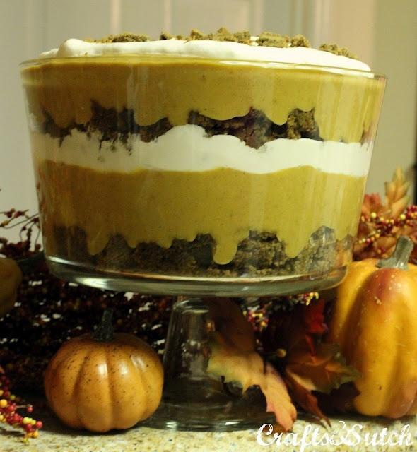 "gingerbread pumpkin. trifle. This is the Paula Deen recipe I made however I like ""dumbing"" it down"