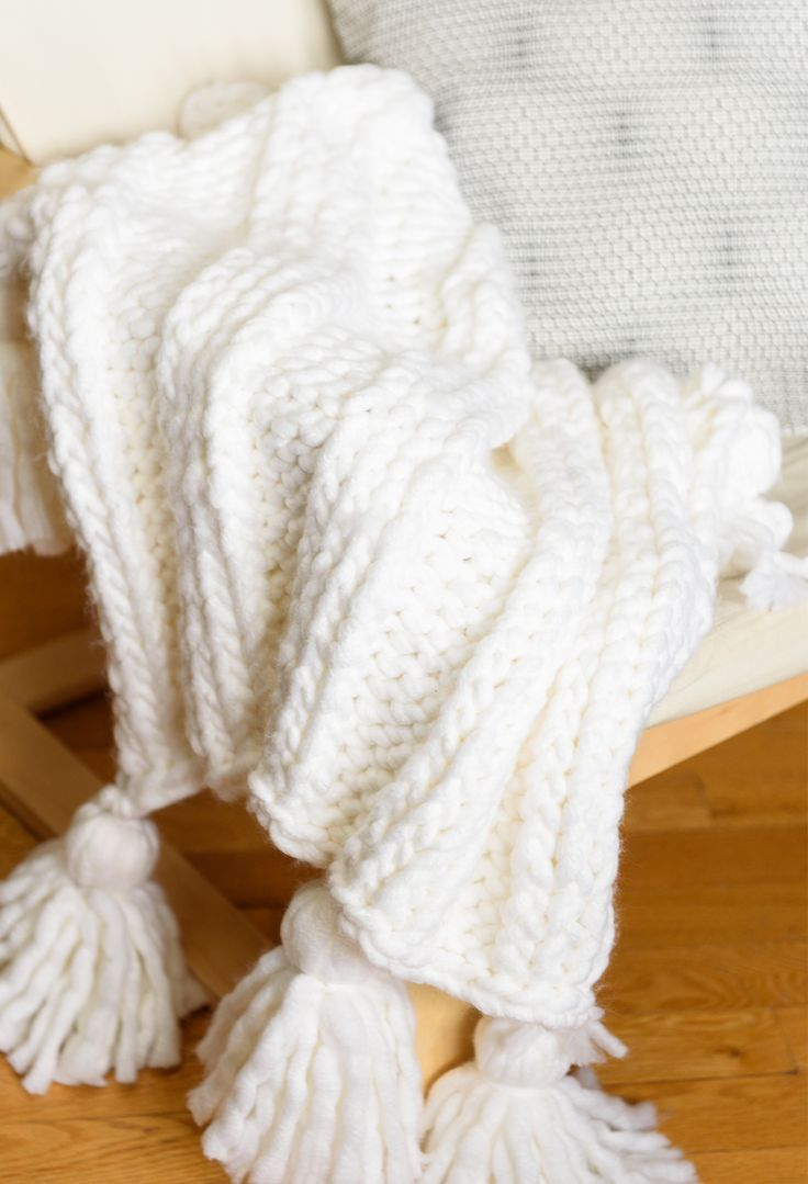 Knitting Project // Super easy ribbed blanket. Easy beginner knit blanket that can be easily adjusted to whatever size you want. Great project to learn on!                                                                                                                                                                                 More
