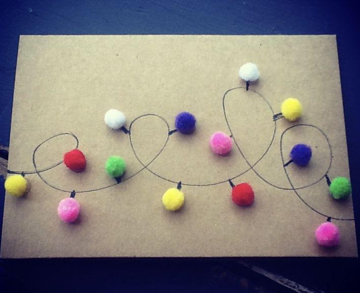 Handmade Christmas Lights Card
