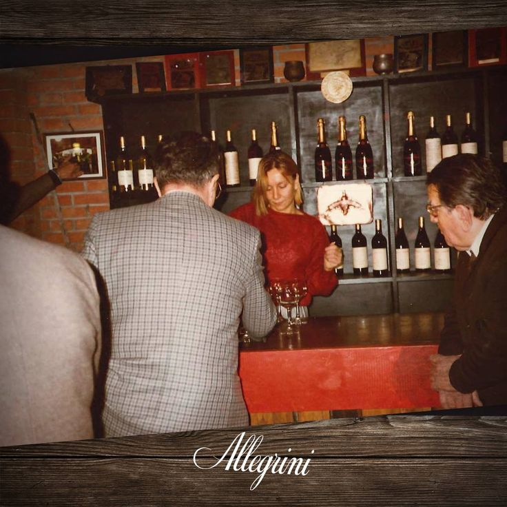 On this #TT #ThrowbackThursday, we present this beautiful picture of Marilisa Allegrini,  who as a young girl was already ensuring people felt at home in her family cellar and explaining Allegrini wines.