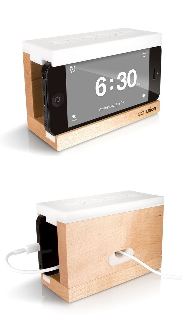 This iPhone clock is so chic!