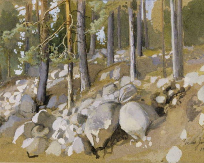 Eero Järnefelt: Maisemaharjoitelma, 1895.