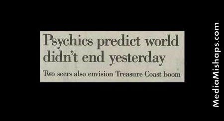 Psychics prediction - I dont believe in psychics