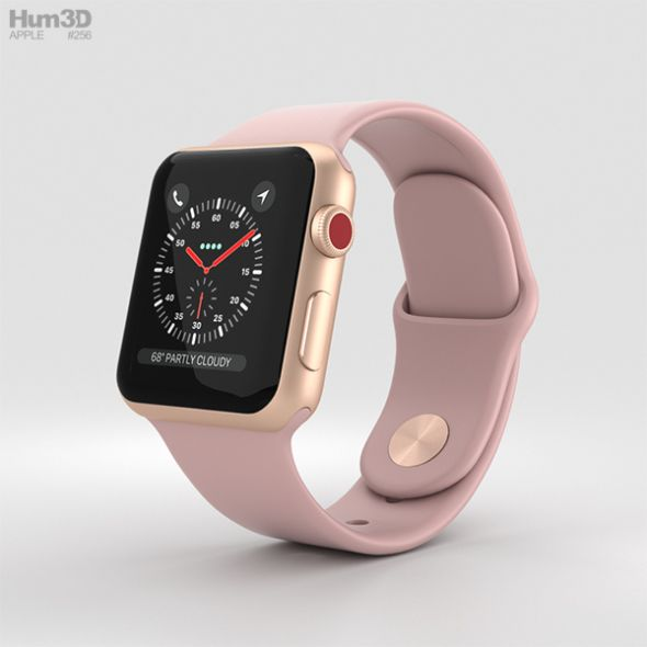 Apple Watch Series 3 38mm Gps Cellular Gold Aluminum Case Pink