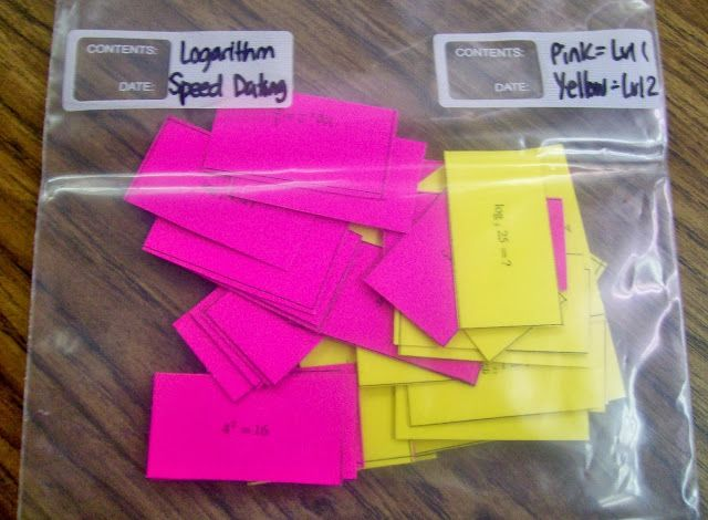 Great printable logarithm activities!