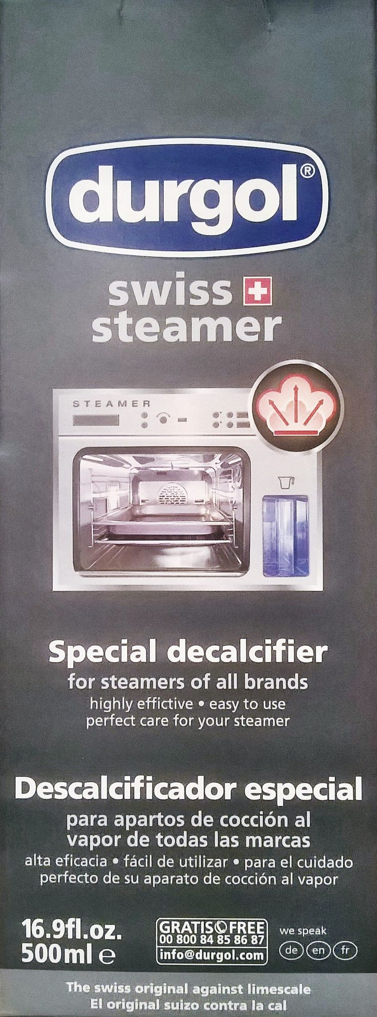 """Durgol"" The SWISS Steamer Descaler for your V-ZUG Steamer, Combi Steamer & Coffee Machine is now exclusively available from our store, ONLY $39.00 per bottle."