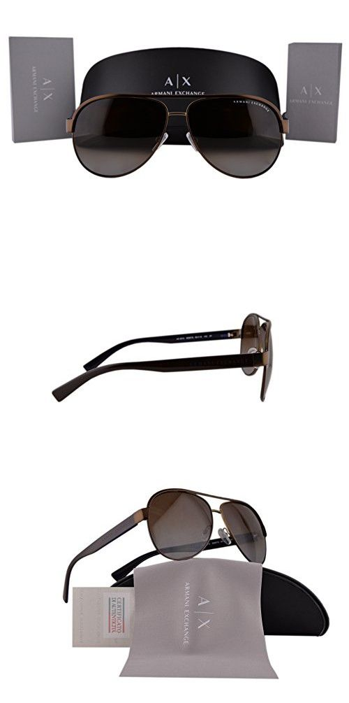 dd9afaeb51 Armani Exchange AX2013S Sunglasses Satin Brown w Polarized Brown Gradient  Lens 6069TS AX 2013S