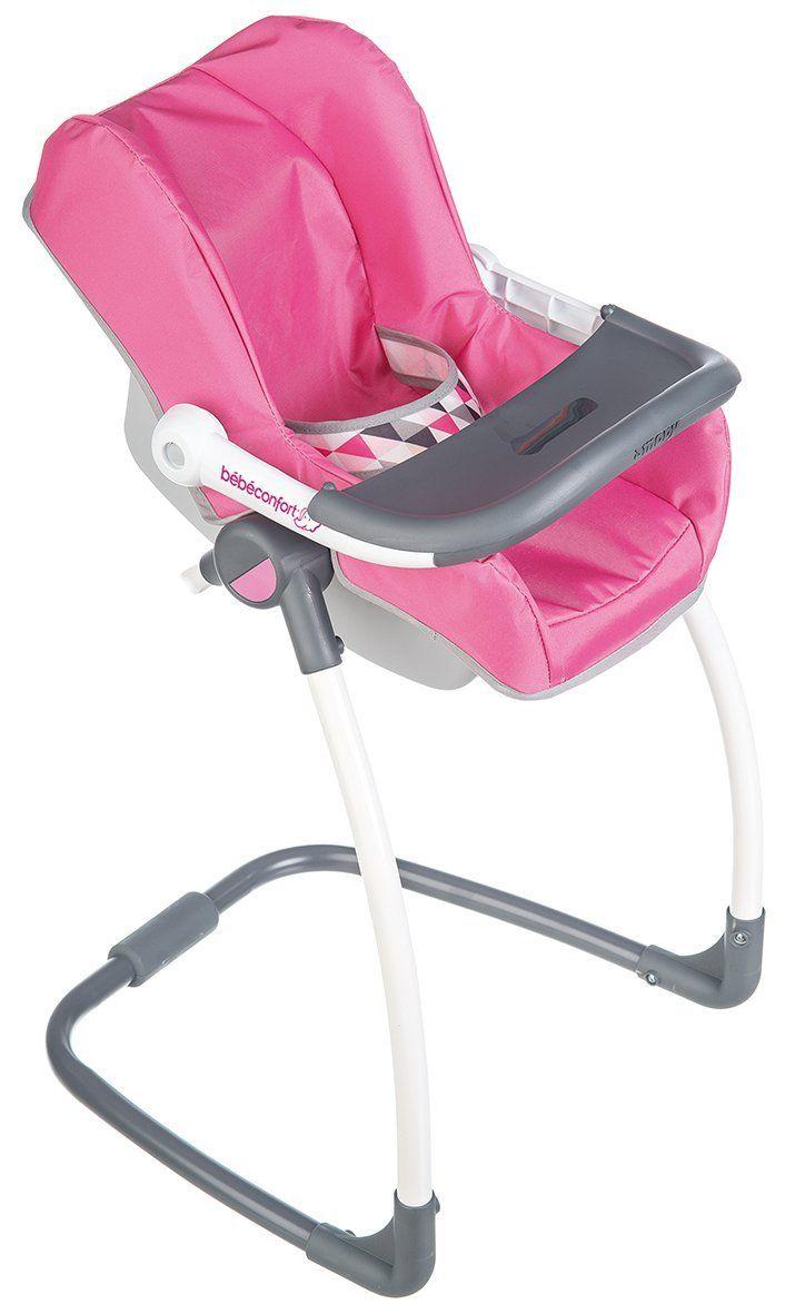 Smoby Toys 240227 Bebe Confort Chaise Haute 3 En 1 Chaise Haute Balancelle Et Siege Auto Amazon Fr Jeux Et Jo Bebe Confort Chaise Haute Chaise Balancelle