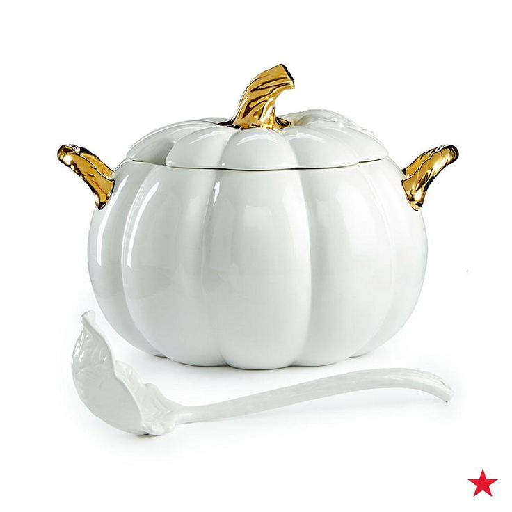 Make this soup tureen from Martha Stewart Collection the focal point of your Thanksgiving table! Pick one up from Macy's to elegantly serve your pumpkin soup to your guests.
