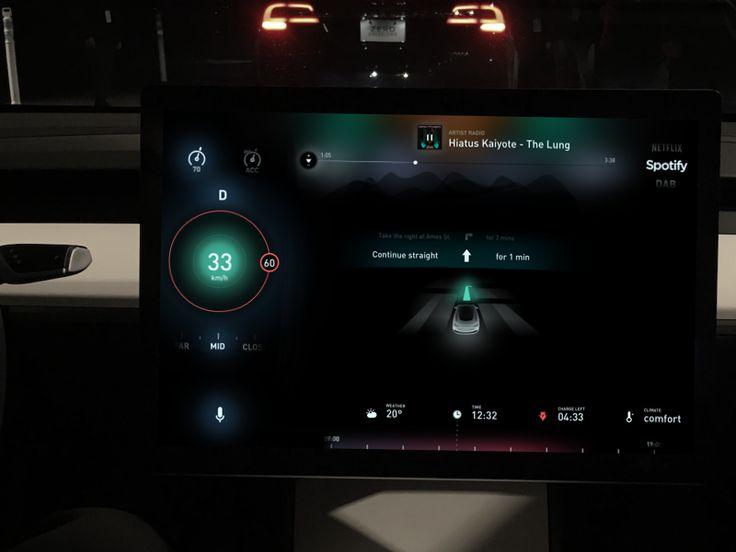 Day 6 - Tesla Model 3 UX and UI
