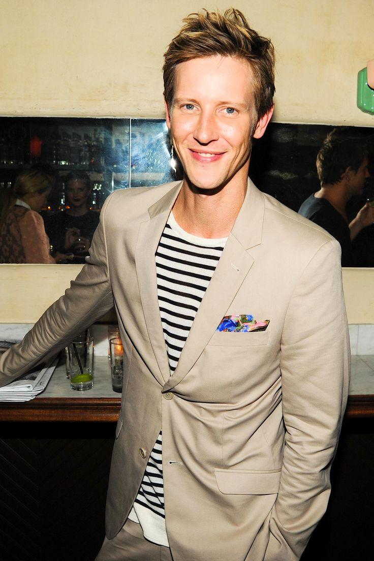 Gabriel Mann | Nylon party wearing Osklen #styledbyjulietvo #stripesandfloral