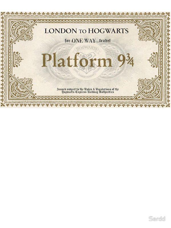 hogwarts express ticket - 600×800