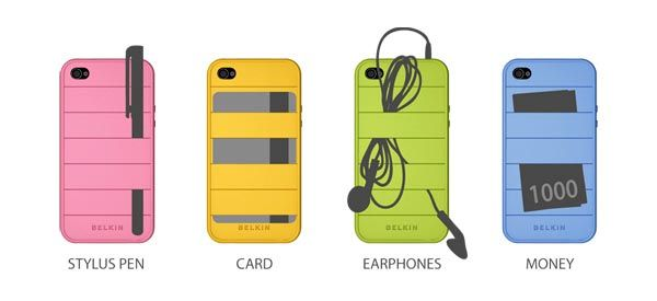 This iPhone 4 case is our dream come true! It can hold your credit card, headphones, money and more.