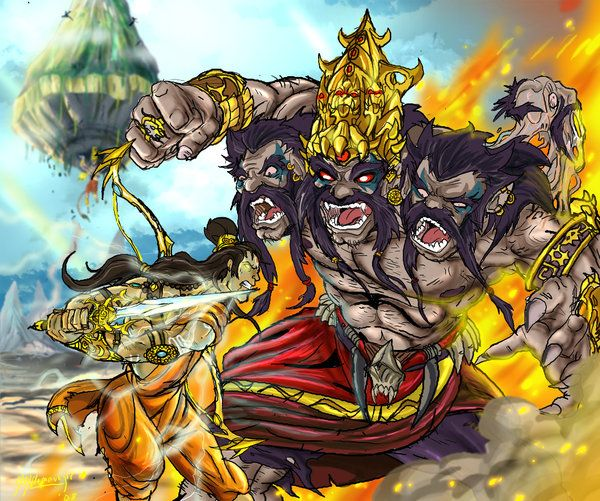 Awesome rendering of the Ramayan.
