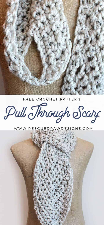 Padrão livre de lenço de crochê ajustável