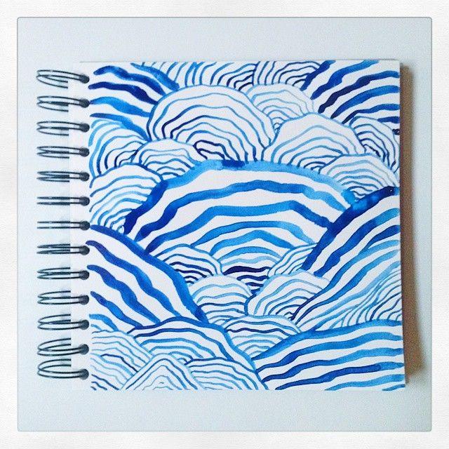 Blue lines.