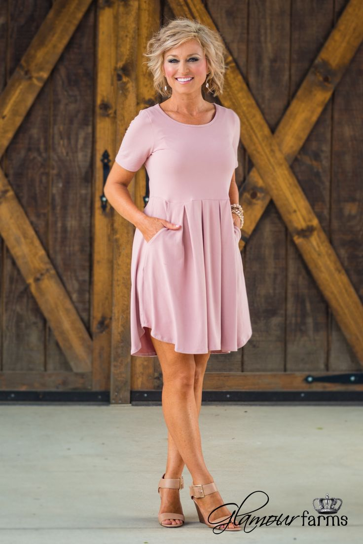 All For Classics Dress - Dusty Pink