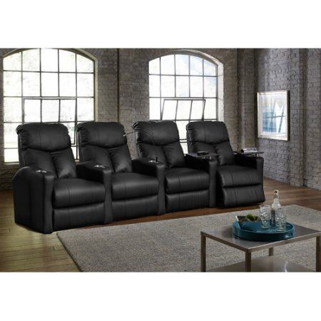 Octane Seating Bolt XS400 Home Theater Recliner (Row of 4) at walmart.com