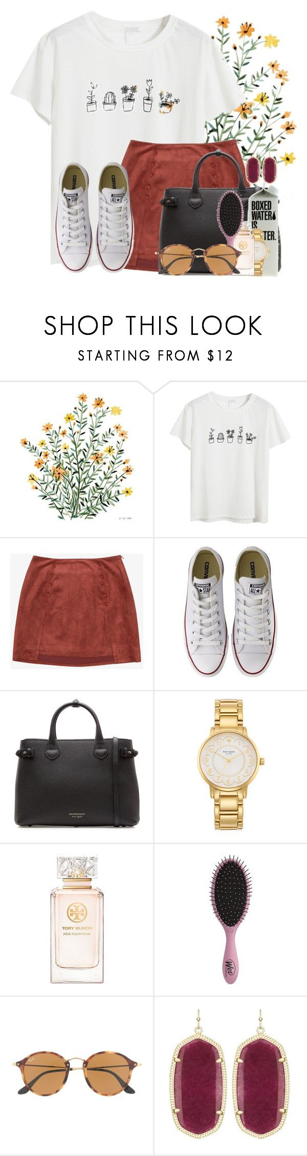 """Packing for Sanibel Island ☀️"" by flroasburn ❤ liked on Polyvore featuring Chicnova Fashion, Converse, Burberry, Kate Spade, Tory Burch, Topshop, Ray-Ban and Kendra Scott"