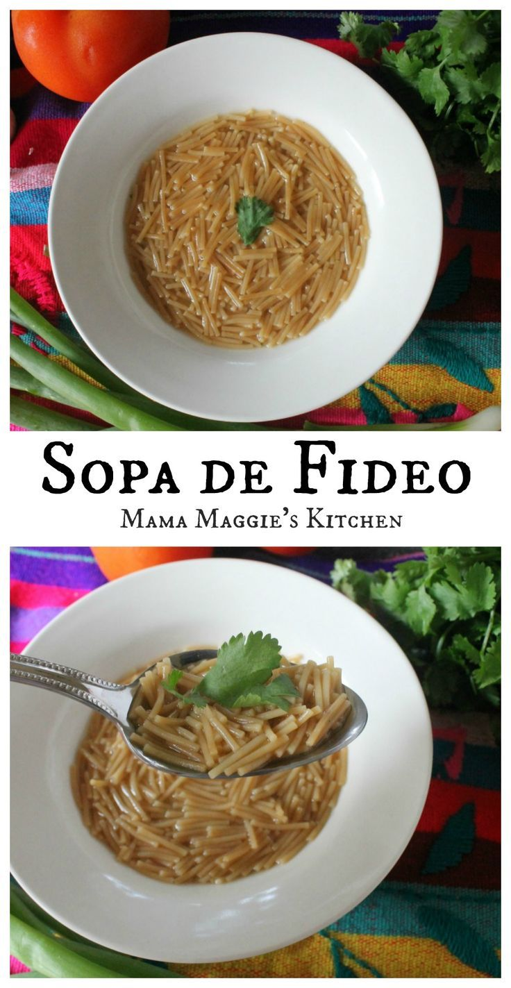 Sopa de Fideo. Mexican food doesn't get any more authentic than this. Comforting, yummy, and full of goodness soup. | Mama Maggie's Kitchen