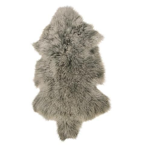 Mongolian Fur Frost Grey Shrug – French Country Collections