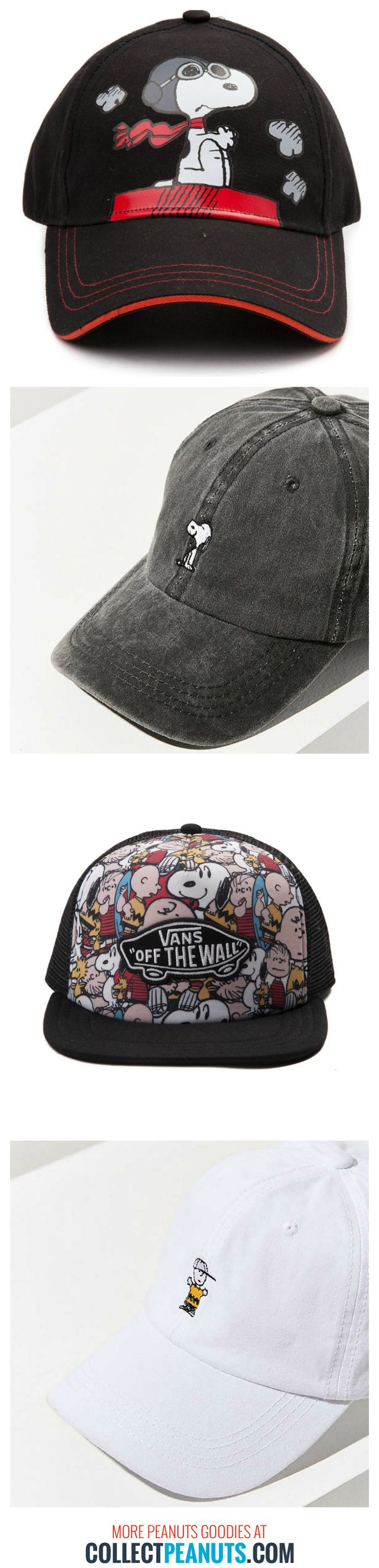 Enjoy the sunny outdoors with a Snoopy hat! Shop a variety of styles in our Peanuts hat round-up at CollectPeanuts.com.